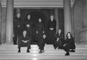 (back row, l. to r.) Arnold Johnson, Michael Thompson, Danielle de Moissac and Lisa Friesen; (front row, l. to r.) Donald Warrener, Andrew Balfour, Angela Neufeld and Karine Beaudette.