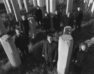 The group in 2001: (back row, l. to r.) Arnold Johnson, Karine Beaudette, Danielle de Moissac, Andrew Balfour, Angela Neufeld and John Van Benthem; (front row, l. to r.) Donald Warrener, Michael Thompson and Lisa Friesen.
