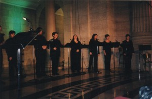 Holiday concert in the rotunda of the Manitoba Legislative Building, 2002.
