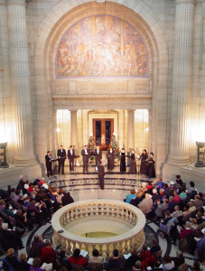 Holiday concert in the rotunda of the Manitoba Legislative Building, 2004.