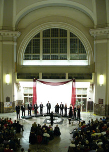 Holiday concert in Union Station, 2006.