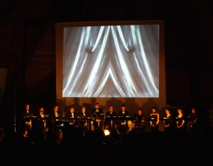 Première of Wa Wa Tey Wak at Église Précieux-Sang, our first multimedia production, 2006.
