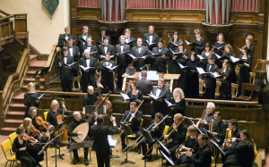Early music specialists for Montréal and elsewhere and Winnipeg Symphony Orchestra musicians participated in The Praetorius Project, 2008. (Photo: Harv Sawatzky)