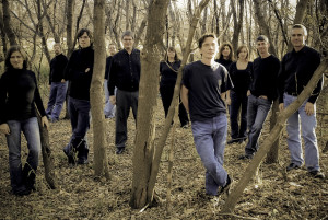 One of our favourite group photos, 2009. (From l. to r.) Ruth Moody, Alan Schroeder, Matthew Knight, Peter John Buchan, Michael Thompson, Angela Neufeld, Andrew Balfour, Karine Beaudette, Sara Clefstad, Ross Brownlee and Kenton McPeek. (Photo: Dan Sullivan)